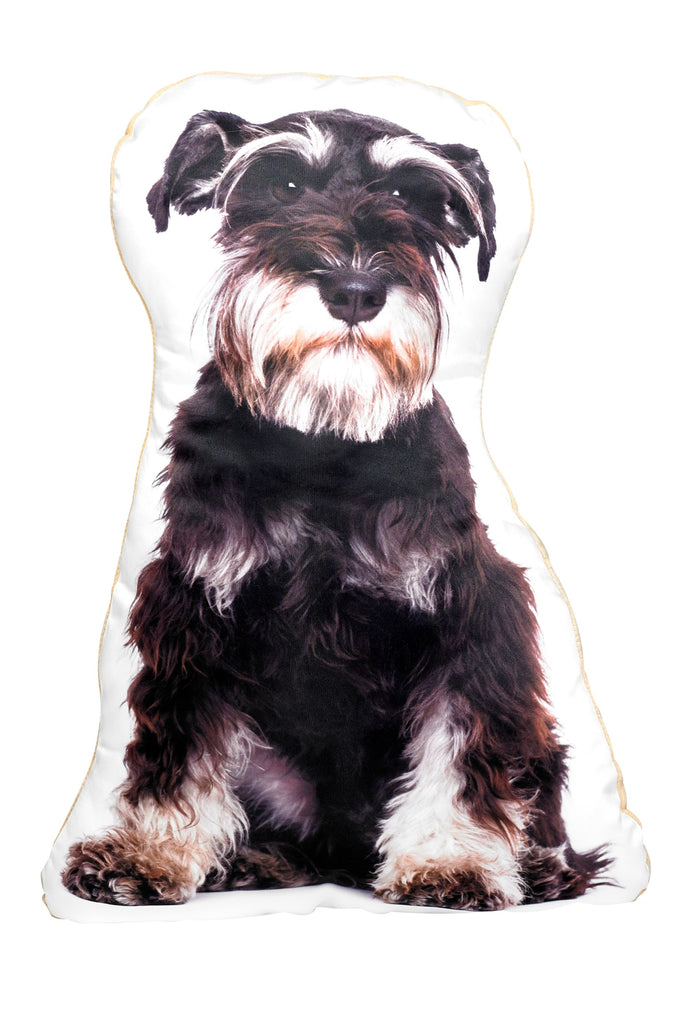 Black & Silver Schnauzer Shaped Cushion