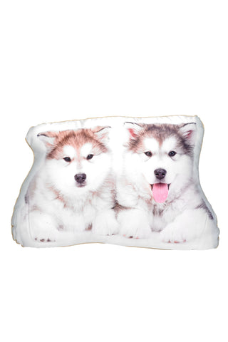 Alaskan Malamute (pair) Shaped Cushion