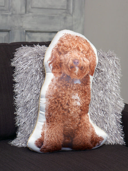Apricot Cockapoo Shaped Cushion