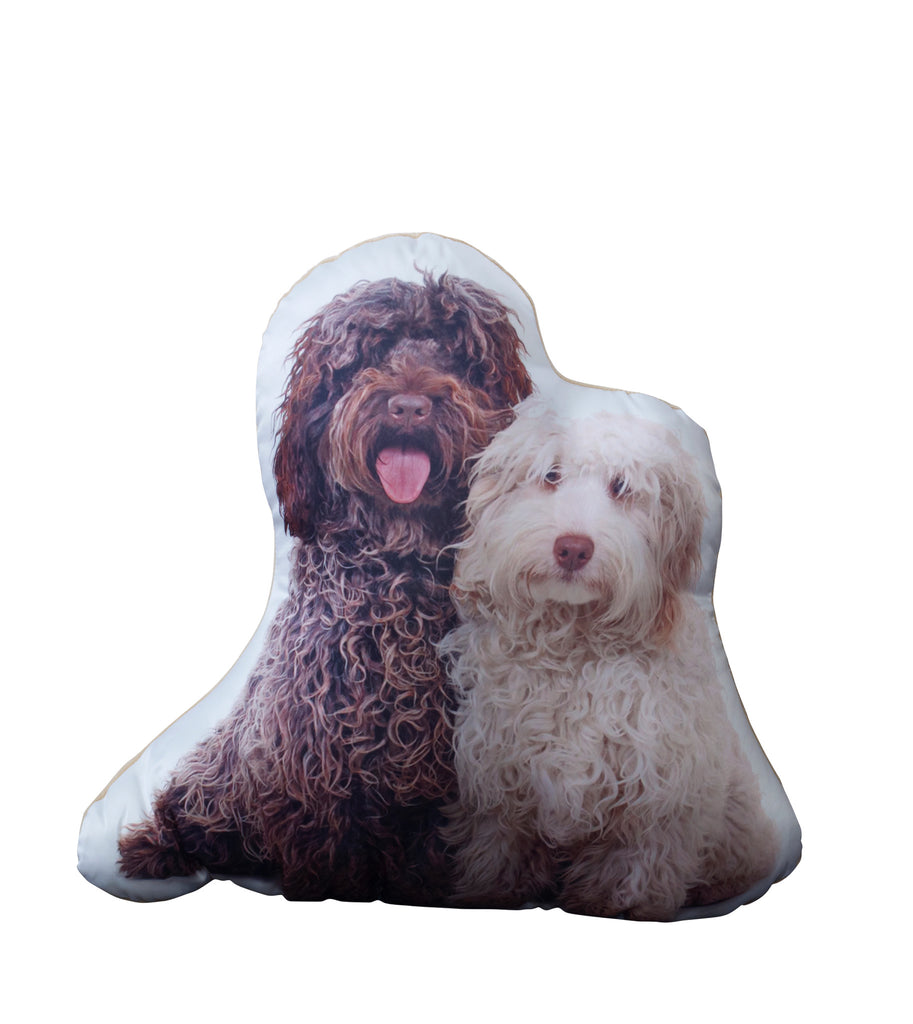 Labradoodle (Pair) Shaped Cushion