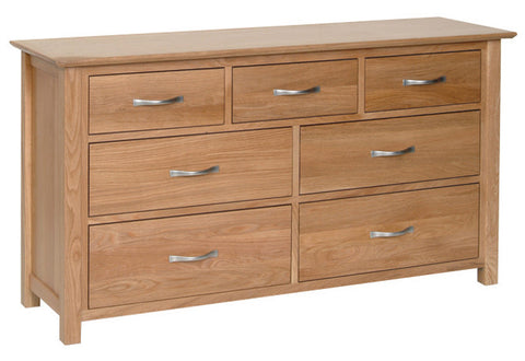 Newbury Oak 3 over 4 Drawer Combination Chest