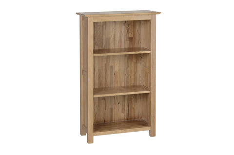 Newbury Oak Low Narrow Bookcase