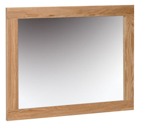 Newbury Oak Wall Mirror - 750mm x 600mm