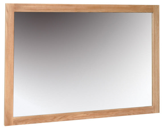Newbury Oak Wall Mirror - 1300mm x 900mm