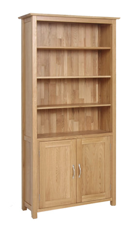 Newbury Oak Cupboard Bookcase