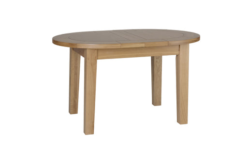"Newbury Oak 4'4"" Small D-End Extending Table"