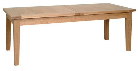 "Newbury Oak 6'7"" x 3' Extending Table (2 Leaf)"