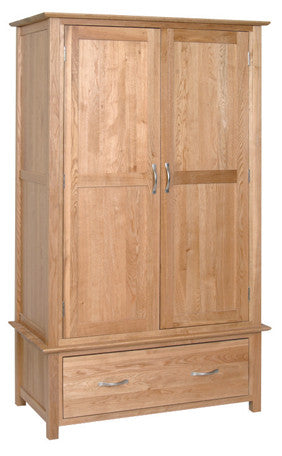 Newbury Oak Double Wardrobe with 1 Drawer