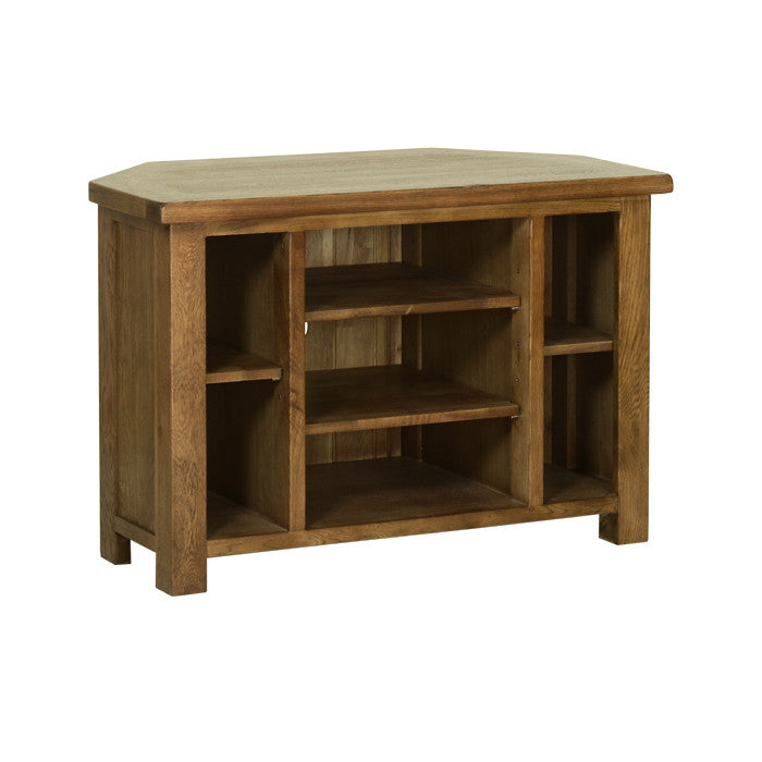 Rushbrooke Oak Corner TV Cabinet