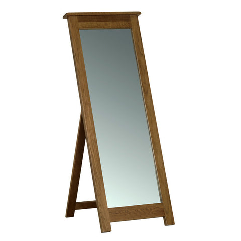 Rushbrooke Oak Cheval Mirror