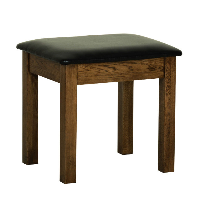 Rushbrooke Oak Dressing Table Stool