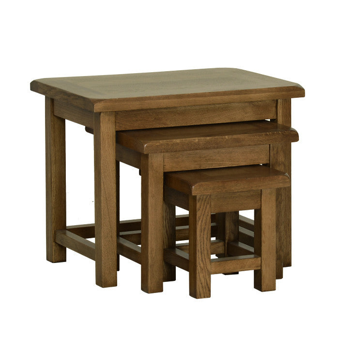 Rushbrooke Oak Small Nest of Tables