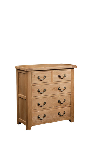 Stourbridge Oak 3 + 2 Drawer Chest