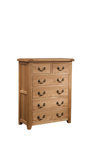 Stourbridge Oak 4 + 2 Drawer Chest