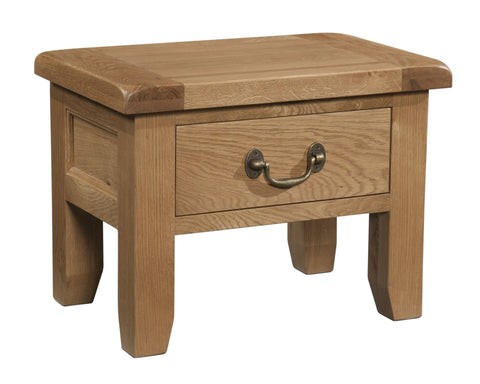 Stourbridge Oak 1 Drawer Side Table
