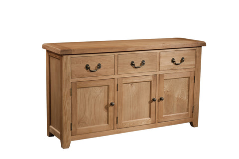 Stourbridge Oak 3 Door 3 Drawer Sideboard