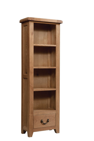 Stourbridge Oak Tall Narrow Bookcase