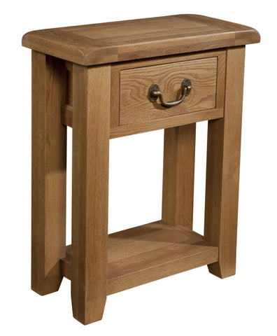 Stourbridge Oak 1 Drawer Console Table