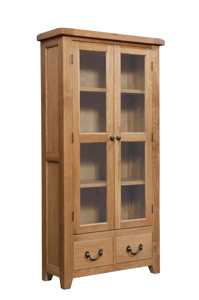 Stourbridge Oak Display Cabinet