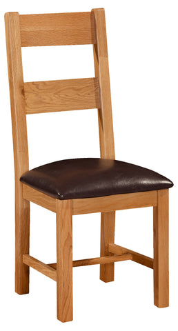 Stourbridge Oak Dining Chair with PU Seat