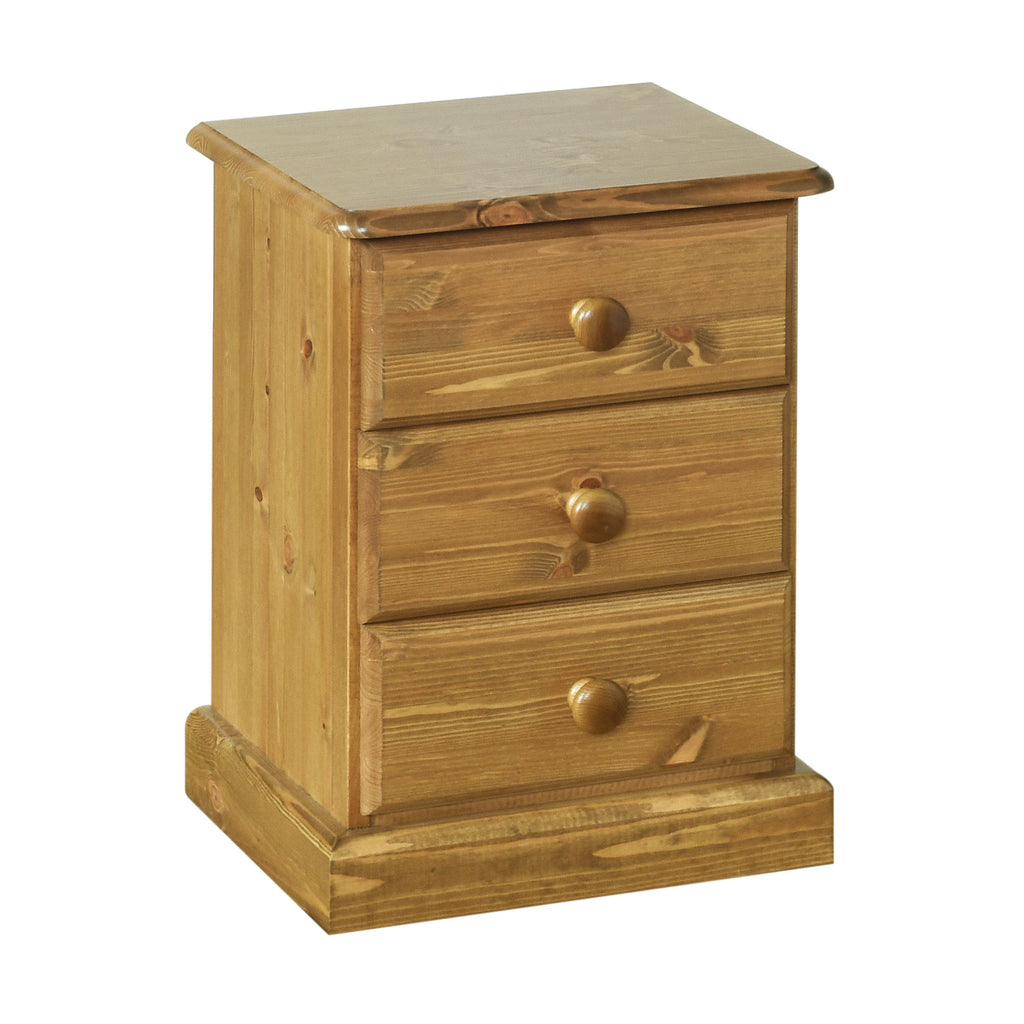 Torridge Pine Small 3 Drawer Bedside Chest