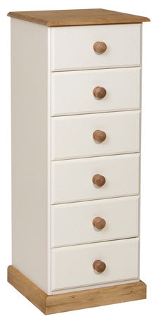 Torridge Painted/Pine 6 Drawer Narrow Chest
