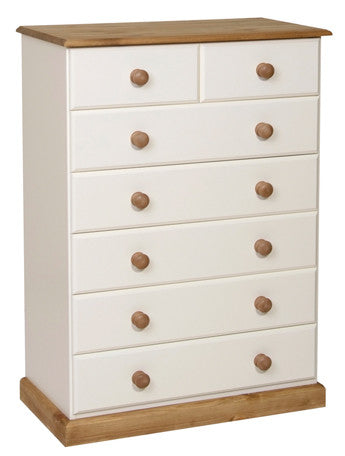 Torridge Painted/Pine 5 + 2 Drawer Chest