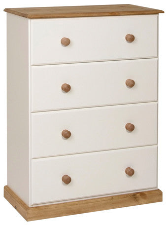 Torridge Painted/Pine 4 Deep Drawer Chest