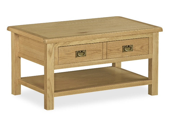 Jersey Oak 2 Drawer Coffee Table