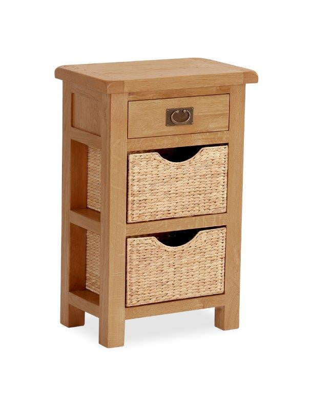 SPECIAL OFFER. Salisbury OAK Console Table with Baskets.