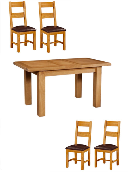 Limited Offer. Extending Oak Table & 4 Oak Chairs.