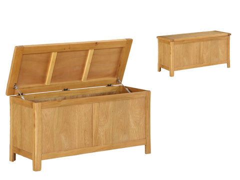 French Oak Blanket Box.