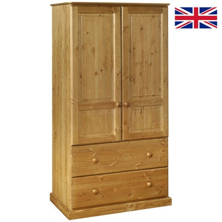 BLACK FRIDAY. 2 Door / 2 Drawer Double Pine Wardrobe.