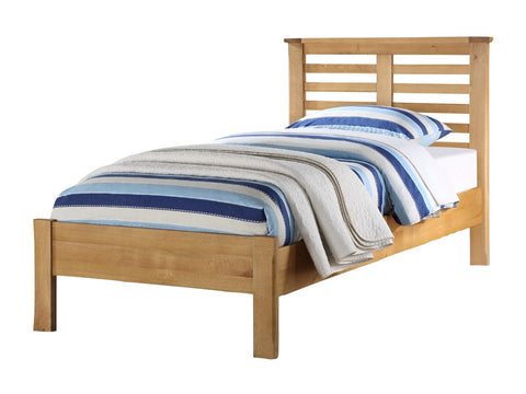 French Oak 3' Slat Single Bed.