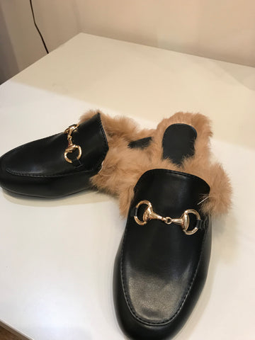 loafers horse-bit with fur