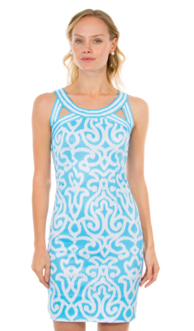 Dress Isosceles Jersey Arabesque