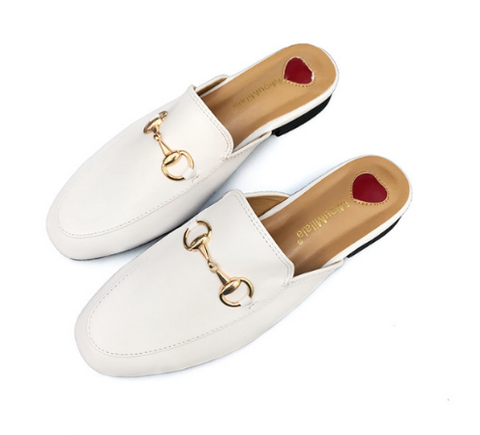 Loafers faux leather with horse bit