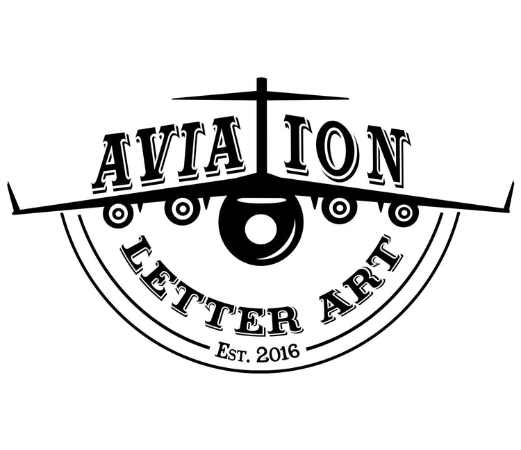 Aviation Letter Art