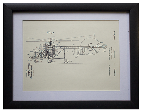 Original Patent Drawing: SIKORSKY HELICOPTER