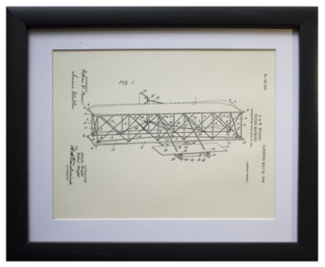 Original Patent Drawing: WRIGHT BROTHER'S FLYING MACHINE