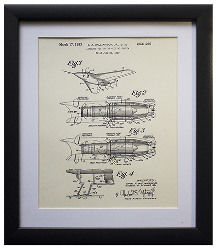 Original Patent Drawing: JET ENGINE
