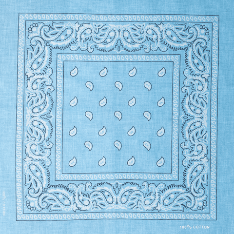 BANDANA | LIGHT BLUE PAISLEY