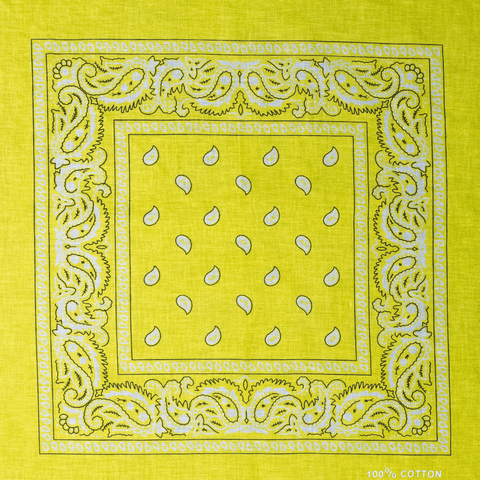 BANDANA | YELLOW PAISLEY