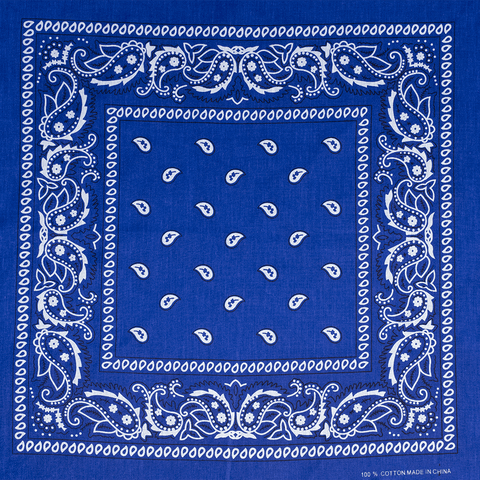 BANDANA | ROYAL BLUE PAISLEY