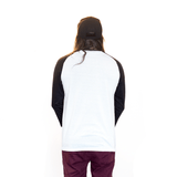 VICTORIOUS | 3/4 WHITE & BLACK RAGLAN
