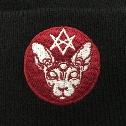 OFF YA TREE | BLACK SATANIC CAT BEANIE - Off Ya Tree