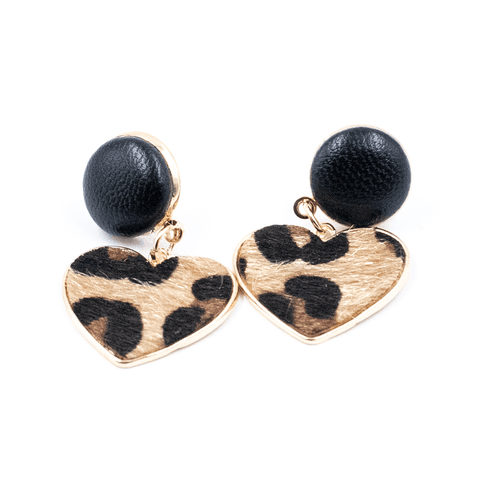 OPHIA | LEOPARD PRINT HEARTS BROWN
