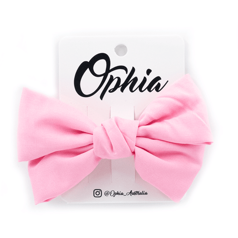 OPHIA | BIG BOWS PINK CLIP