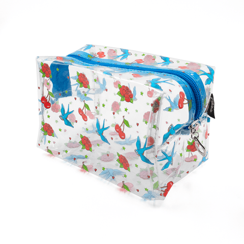 OPHIA | CHERRY BIRD ROSES COSMETIC BAG - Off Ya Tree