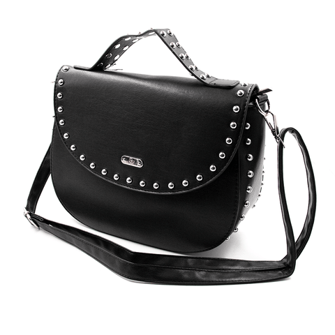 SWEET VENGEANCE | BLACK STUDDED HANDBAG